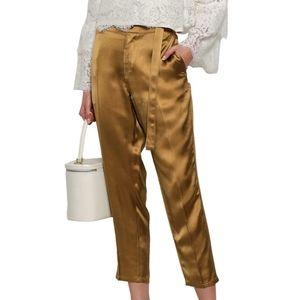 Robert Rodriguez - Satin Belted Metallic Pants